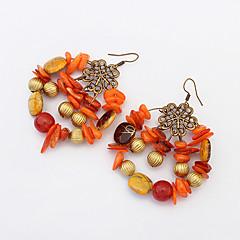 preiswerte Ohrringe-Damen Perlenbesetzt Tropfen-Ohrringe Ohrringe baumeln - Retro, Böhmische, Europäisch Orange / Rot / Grün Für Party Alltag Normal