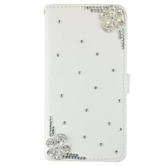 Для Samsung Galaxy Note Бумажник для карт / Кошелек / Стразы / со стендом / Флип Кейс для Чехол Кейс для Один цвет ТвердыйИскусственная