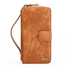 Недорогие Кейсы для iPhone 5-Кейс для Назначение Apple iPhone 8 iPhone 8 Plus Бумажник для карт Кошелек Защита от пыли Защита от удара со стендом с окошком Зеркальная