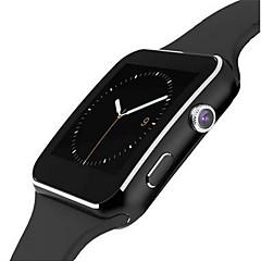 preiswerte Herrenuhren-Herrn / Damen Smartwatch Touchscreen / Alarm / Kalender Caucho Band Schwarz / Weiß / Fernbedienungskontrolle / Schrittzähler / Fitness Tracker / Stopuhr