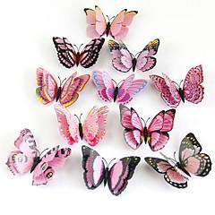 baratos -Animais Adesivos de Parede Autocolantes 3D para Parede Autocolantes de Parede Decorativos Material Reposicionável Decoração para casa