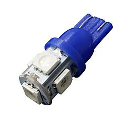 10 x ultra-azul t10 5-SMD 5050 LED interior lâmpadas W5W 2825 158 192 194 168