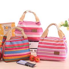 Koreanska söta kall kylväska picknick lunch väska med väskor rand blixtlås väska matlåda
