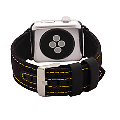 cheap New Arrivals-Watch Band for Apple Watch 3 38mm 42mm Nylon and Leather Watch Band Strap Classic Buckle