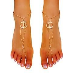 Kadın Ayak bileziği/Bilezikler Altın Kaplama alaşım Eşsiz Tasarım Sexy Püsküller Moda Mücevher Altın Bayanlar Mücevher Parti Günlük 1pc