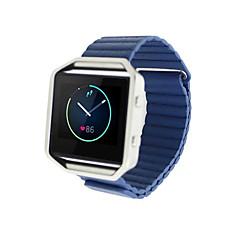 Кофе / Красный / Черный / Синий / серый / Золотистый Кожа Кожаный ремешок Для Fitbit Смотреть 23мм