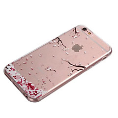 Para iPhone 8 iPhone 8 Plus iPhone 6 iPhone 6 Plus Case Tampa Transparente Capa Traseira Capinha Flor Macia PUT para iPhone 8 Plus iPhone