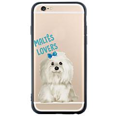 Для Кейс для iPhone 6 / Кейс для iPhone 6 Plus Прозрачный / С узором Кейс для Задняя крышка Кейс для С собакой Твердый TPU AppleiPhone 6s