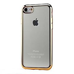 Недорогие Кейсы для iPhone 5-Кейс для Назначение Apple iPhone X / iPhone 8 / iPhone 7 Покрытие / Прозрачный Кейс на заднюю панель Однотонный Мягкий ТПУ для iPhone X / iPhone 8 Pluss / iPhone 8