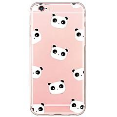 voordelige iPhone-hoesjes-Voor iPhone X iPhone 8 iPhone 6 iPhone 6 Plus Hoesje cover Ultradun Doorzichtig Achterkantje hoesje Cartoon Panda Zacht TPU voor Apple