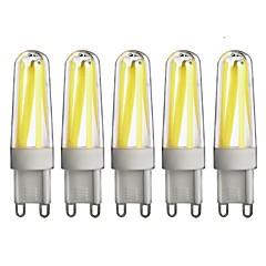 お買い得  LED 電球-G9 LED2本ピン電球 T 4 LEDの COB 調光可能 温白色 クールホワイト 350lm 3000/6000K 交流220から240V