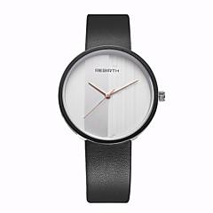 お買い得  メンズ腕時計-REBIRTH 男性用 クォーツ ユニークなクリエイティブウォッチ リストウォッチ / カジュアルウォッチ PU バンド カジュアル ミニマリスト ファッション ブラック 白