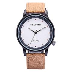 preiswerte Tolle Angebote auf Uhren-REBIRTH Herrn Armbanduhr Quartz Schlussverkauf / PU Band Analog Freizeit Modisch Schwarz / Blau / Khaki - Schwarz / Weiß Schwarz Khaki