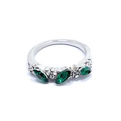お買い得  指輪-女性用 ステートメントリング  -  ラインストーン, 合金 ファッション 8 シルバー / ゴールデン 用途 贈り物 / 日常