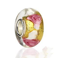 preiswerte Perlen & Schmuck machen-Blumenform Rose Glas Perlenbesetzt Europäisch Schmuck Für