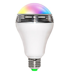 5W E26/E27 LED Smart Bulbs B 10 SMD 5730 200-250 lm RGB K Bluetooth Sound-Activated WIFI AC 85-265 V
