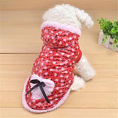Hund Hættetrøjer Hundetøj Afslappet/Hverdag Prikket Sløjfeknude Rød Blå Lys pink