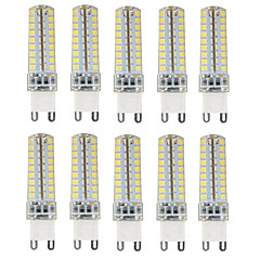 4.5W G9 LED Bi-pin Lights T 72 SMD 2835 350-450 lm Warm White Cold White Natural White 3000-6000 K Waterproof Dimmable Decorative AC 10pcs