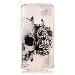 Pentru Carcasă LG IMD / Transparent / Model Maska Carcasă Spate Maska Craniu Moale TPU LG LG K10 / LG K8 / LG K7 / LG K4