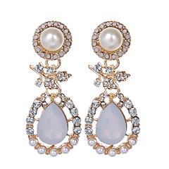 preiswerte Ohrringe-Damen Perle Tropfen-Ohrringe - Perle, Künstliche Perle, Strass Tropfen Luxus, Retro, Europäisch Gold Für Party / Alltag / Normal / vergoldet / Diamantimitate