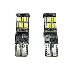 Недорогие Освещение салона авто-2pcs Автомобиль Лампы SMD 4014 2000 lm Подсветка для чтения / Подсветка для номерного знака / Боковая подсветка