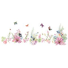 abordables Stickers-Animaux Romance Floral Stickers muraux Autocollants avion Autocollants muraux décoratifs, PVC Décoration d'intérieur Calque Mural Mur