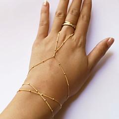 Kadın Yüzük Bileklikler Moda minimalist tarzı Boncuklu sevimli Stil alaşım Line Shape Mücevher Uyumluluk Günlük