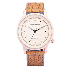 お買い得  メンズ腕時計-REBIRTH 男性用 ファッションウォッチ / リストウォッチ / PU バンド カジュアル オレンジ / ブラウン / ベージュ