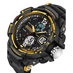 お買い得  メンズ腕時計-SANDA 男性用 スポーツウォッチ デジタルウォッチ クォーツ デジタル 30 m 耐水 アラーム カレンダー ラバー バンド アナログ/デジタル ブラック - レッド ブルー ゴールデン 2年 電池寿命 / 光る / LCD / 2タイムゾーン / ストップウォッチ / Maxell626 + 2025