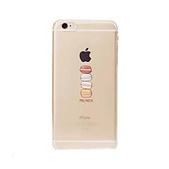 Недорогие Кейсы для iPhone-Кейс для Назначение Apple iPhone 8 / iPhone 8 Plus / iPhone 6 Plus Прозрачный Кейс на заднюю панель Продукты питания Мягкий ТПУ для iPhone 8 Pluss / iPhone 8 / iPhone 7 Plus