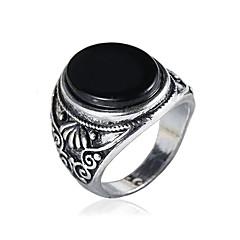 Męskie Duże pierścionki Modny Postarzane minimalistyczny styl Rzeźniony Klasyczny Syntetyczne kamienie szlachetne Stop Flower Shape