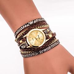 preiswerte Damenuhren-Damen Quartz Armbanduhr / Armband-Uhr Cool PU Band Retro / Freizeit / Böhmische / Modisch Schwarz / Weiß / Blau / Silber / Rot / Gold /