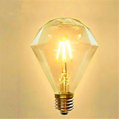 お買い得  LED 電球-1個 4 W 350 lm E26 / E27 フィラメントタイプLED電球 G95 4 LEDビーズ COB 装飾用 温白色 220-240 V / 1個 / RoHs