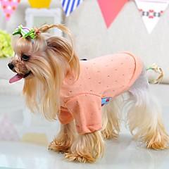 お買い得  猫の服-ネコ 犬 Tシャツ パジャマ 犬用ウェア ソリッド グリーン ブルー ピンク コットン コスチューム ペット用 男性用 女性用 キュート カジュアル/普段着