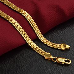 preiswerte Halsketten-Herrn Fischgrätenkette Ketten - 18K vergoldet Personalisiert, Klassisch, Modisch Golden 50 cm Modische Halsketten Schmuck 1pc Für Party, Alltag, Normal
