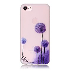 voordelige iPhone 7 Plus hoesjes-hoesje Voor Apple iPhone 6 iPhone 7 Plus iPhone 7 Glow in the dark Patroon Achterkant Paardebloem Zacht TPU voor iPhone 7 Plus iPhone 7