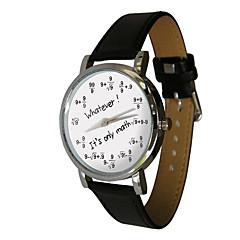 preiswerte Tolle Angebote auf Uhren-Herrn Armbanduhr Quartz Cool Stoff Band Analog Retro Freizeit Modisch Schwarz - Schwarz / Silber
