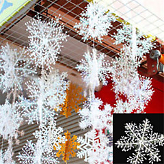voordelige -30pcs kerst sneeuw vlokken witte sneeuwvlok ornamenten boom kerstvakantie decortion festival partij huis decor