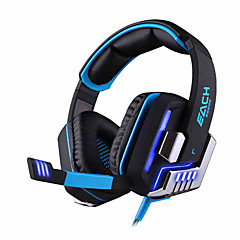 KOTION EACH G8200 Över örat Headband Kabel Hörlurar Dynamisk Spel Hörlur Ljudisolerande mikrofon Med volymkontroll Självlysande headset