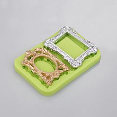 2 hulrum 3 d silikone skimmel fotoramme skimmel madlavningskage til nem bagning værktøj fabrik ramdon farve