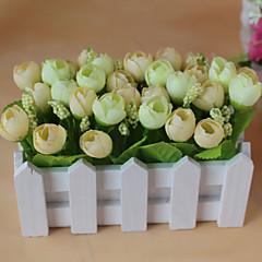 Set of 1 PCS 2 분기 폴리에스터 장미 테이블  플라워 인공 꽃 2.7