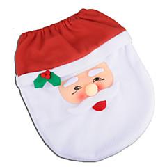abordables Decoración del Hogar-Santa muñeco de nieve ciervo espíritu asiento del inodoro cubierta de baño alfombra con toalla de papel cubierta para regalo de navidad año nuevo decoraciones para el hogar