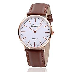 お買い得  大特価腕時計-女性用 リストウォッチ カジュアルウォッチ レザー バンド ヴィンテージ / ミニマリスト / ファッション ブラック / ブラウン
