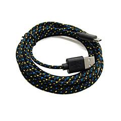 oude haai ™ 2 verpakkingen 2m 6ft Micro USB opladen en data sync-kabel kabel gevlochten stof geweven voor samsung zwart