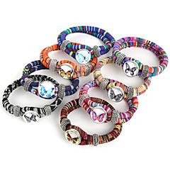 Naisten Amuletti-rannekorut Wrap Rannekorut Muoti Värikäs Nylon Metalliseos Animal Shape Line Shape ButterflyFuksia Punainen Vihreä