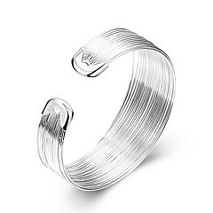 preiswerte Armbänder-Damen Manschetten-Armbänder - Sterling Silber, versilbert Europäisch, Simple Style, Modisch Armbänder Weiß Für Party / Alltag / Normal