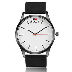 preiswerte Tolle Angebote auf Uhren-SOXY Herrn Armbanduhr Armbanduhren für den Alltag / / Leder Band Freizeit / Modisch / Kleideruhr Schwarz / Braun / SODA AG4