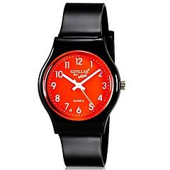 preiswerte Tolle Angebote auf Uhren-Quartz Armbanduhr Mehrfarbig Plastic Band Süßigkeit Freizeit Modisch Cool Schwarz
