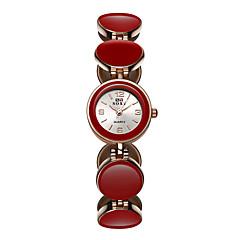 お買い得  メンズ腕時計-SOXY 女性用 レディース ブレスレットウォッチ クォーツ 30 m カジュアルウォッチ / 合金 バンド ハンズ カジュアル ファッション エレガント ブラック / 白 / レッド - ホワイト ブラック レッド 1年間 電池寿命 / SODA AG4