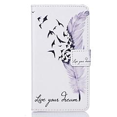 Для Кейс для Sony / Xperia X / Xperia Z5 Бумажник для карт / Кошелек / со стендом / Флип / Рельефный / С узором Кейс для Чехол Кейс для